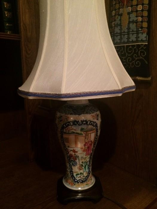 One of the many impressive lamps in the home