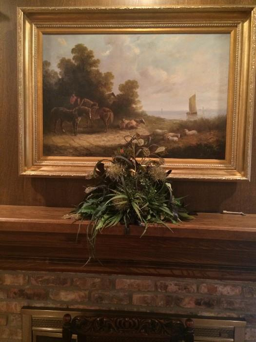 Pastoral framed art