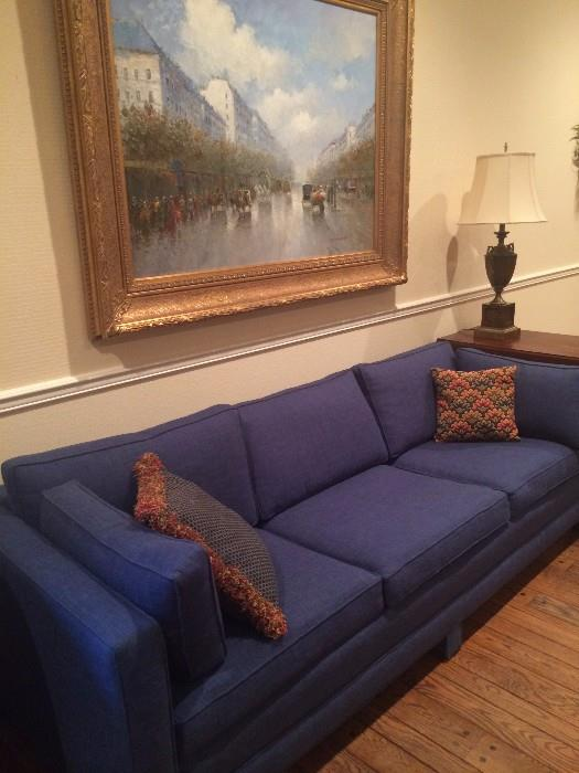 Another blue sofa