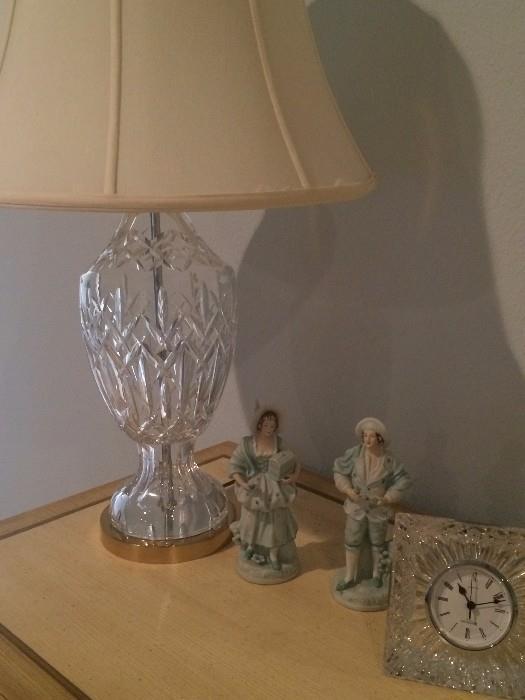 Waterford lamp & clock
