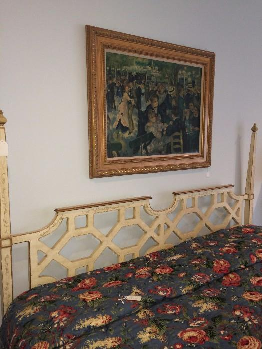 Heritage king bed with matching dresser & nightstands
