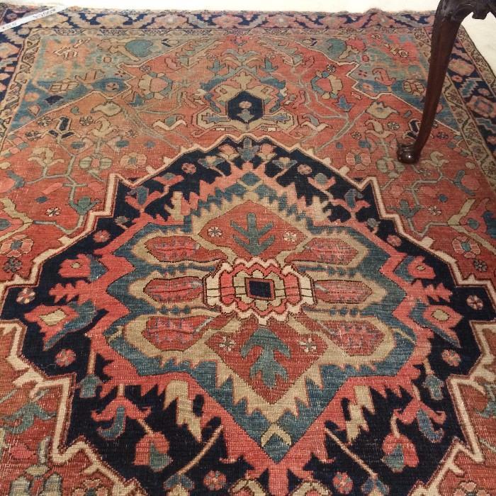 7 ft. 3 in.  x  11 ft. antique rug