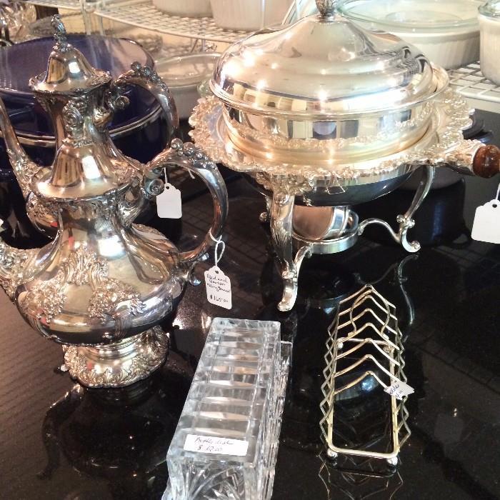 "Reed and Barton ""King Francis"" silver plate coffee & tea servers"