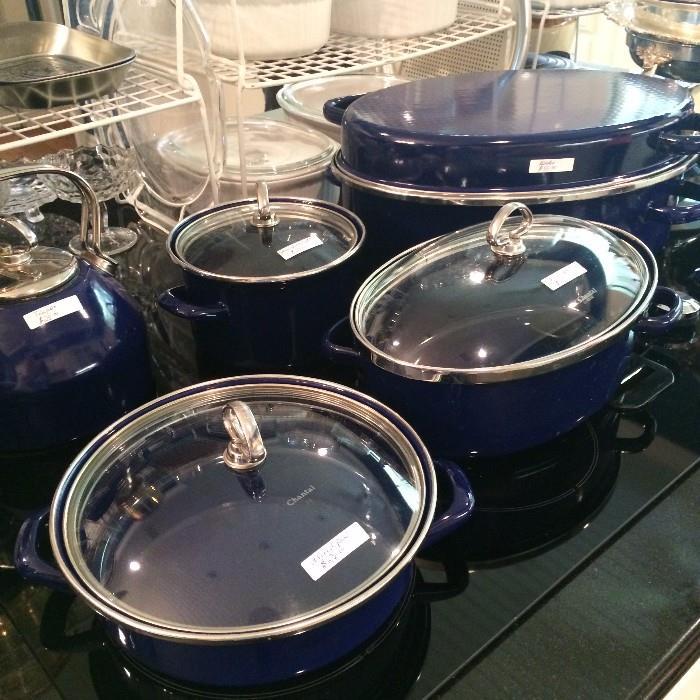 Chantal colbalt blue cookware