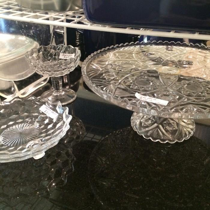 Fostoria and other serving pieces