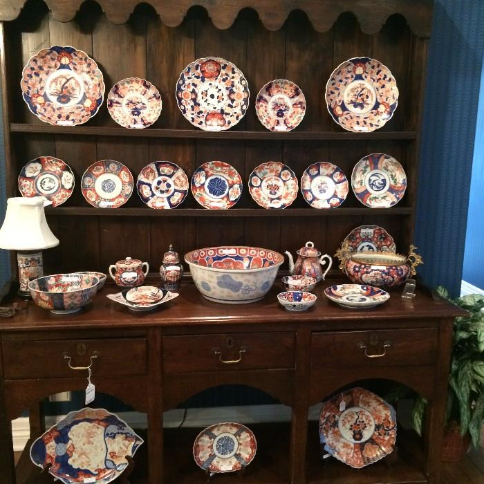 Exceptionally stunning Welsh dresser filled with a huge collection of Imari