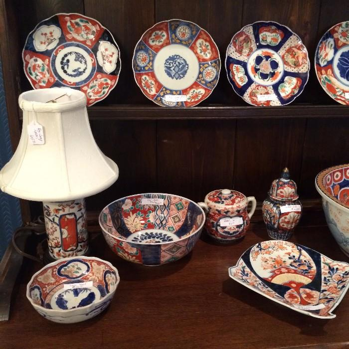 Various sizes and shapes of Imari