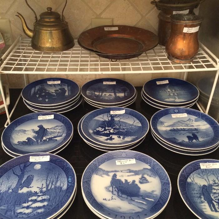 Royal Copenhagen plates from Denmark