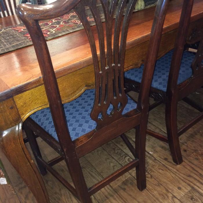 One of the six matching chairs