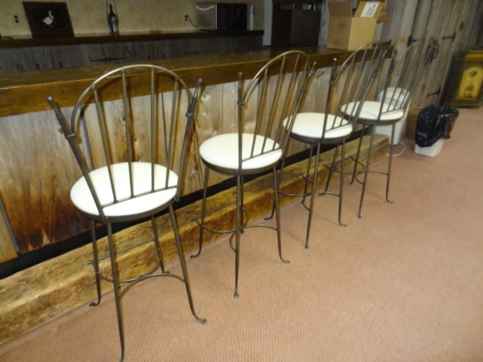 "Four Stools purchased from Lloyd's of Somerville- 40"" H- Seat 29"" H"