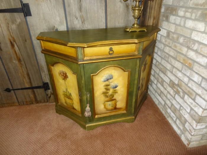 """Painted Console Table measures 43""""W X 18""""D X 34""""H"""