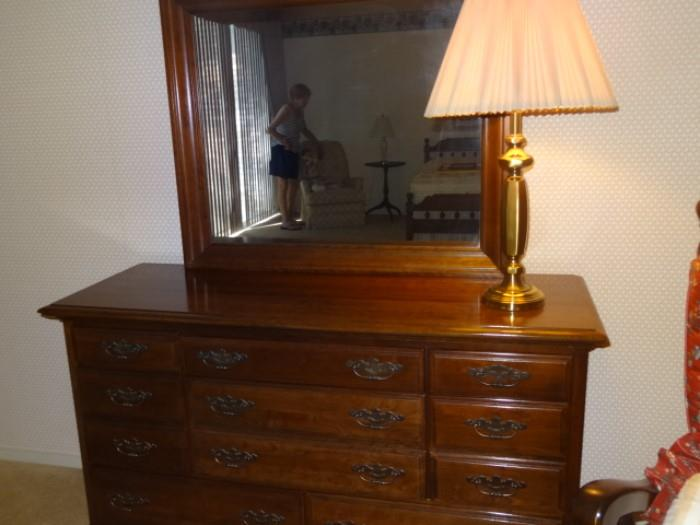"""Sterling House Dresser with Mirror- Dresser measures 56""""W X 19""""D X 33"""" H. Mirror measures-33""""H X 39 """"W"""