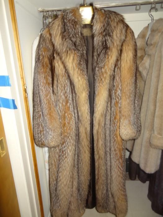 Silver Fox Full Length Coat