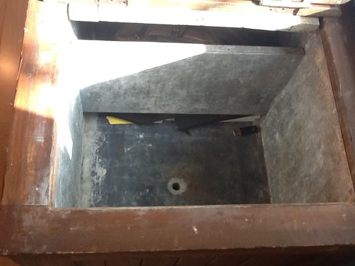 wood ice chest antique