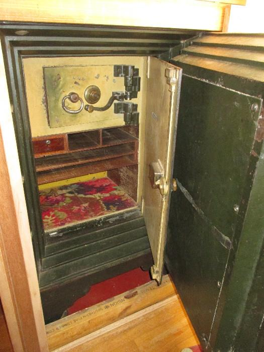 The safe will need to be moved.  Outer framed in area will need to be taken apart and it will probably take a tractor to move.  As you can imagine, it is very heavy!