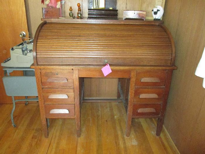 This desk was from Cudaky Packing Co. in Victoria