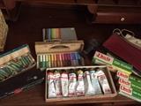 Oil Paints, Pastels, Pencils