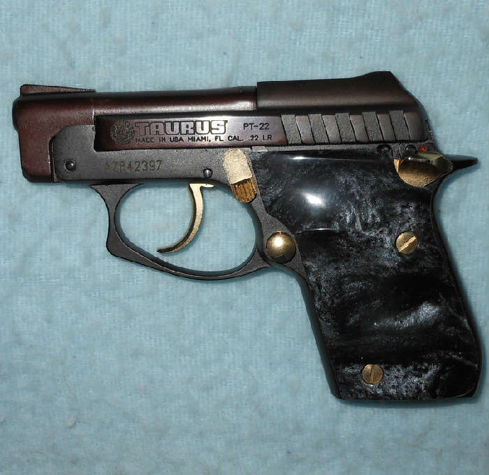 Taurus PT-22 with Beautiful Grips, Original Case and Clips