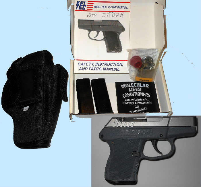 Kel-Tec .380 Automatic with Case, Clips and Original Papers