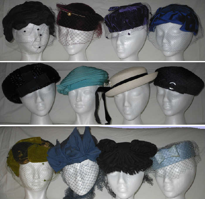 Nice Selection of Vintage Lady's Hats