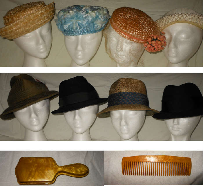 A few of the Vintage Hats, there are 4 Vintage Men's Hats