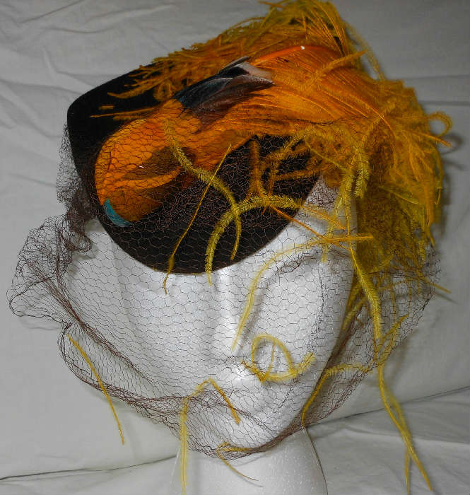 Fabulous Vintage Hat with Whimsical Bird Decoration