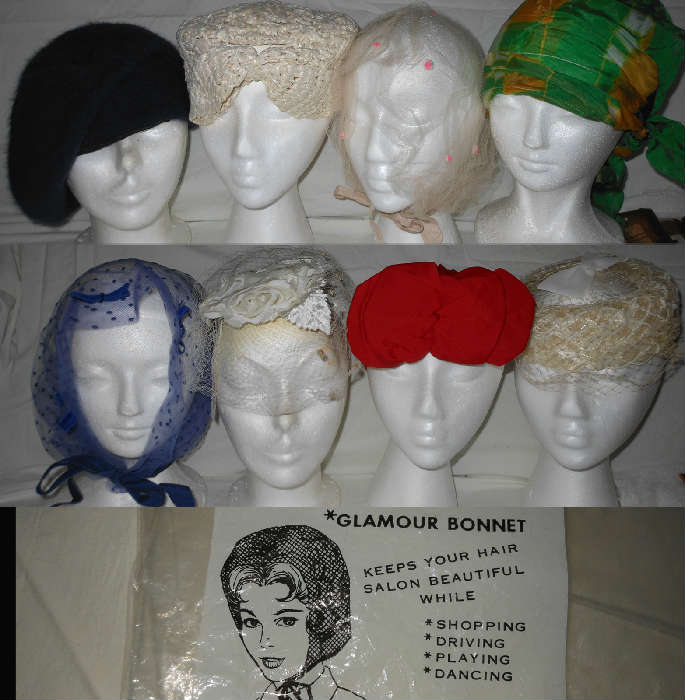 Along with Vintage Hats there are also many Vintage Head Coverings of all Sorts