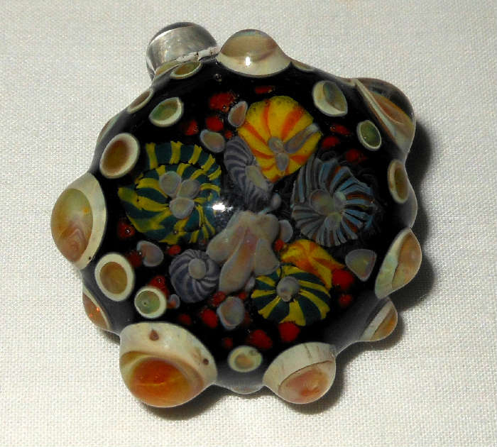 Fabulous Glass Pendant, Murano?-Appears as if it contains a Coral Reef