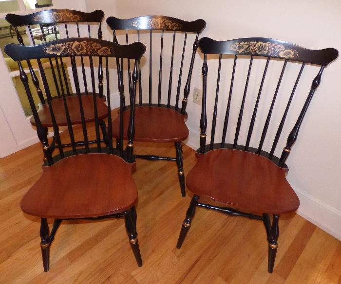 Four Signed Hitchcock Chairs