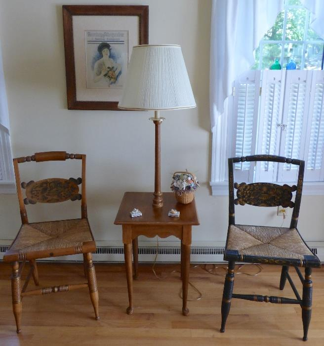 Signed Hitchcock Chairs