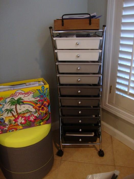 Rolling Cart File Drawers - New
