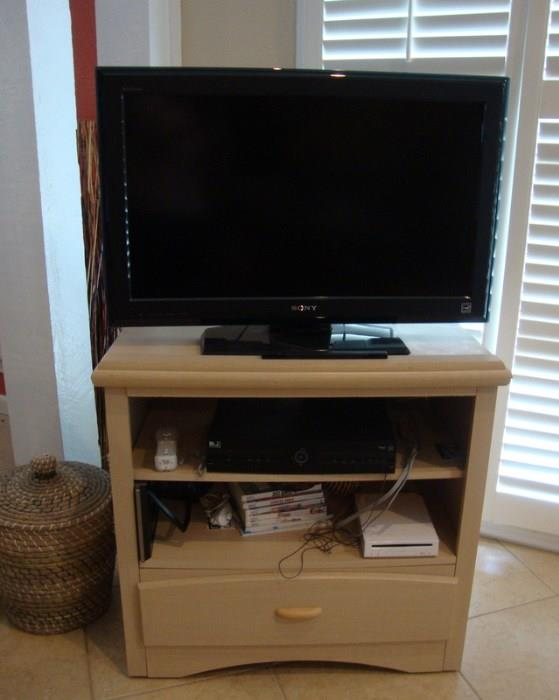 Sony Flat Screen TV and Cabinet
