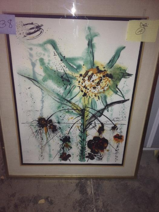Salvador Dali Sun Flowers  Water mark of Phyllis Lucas