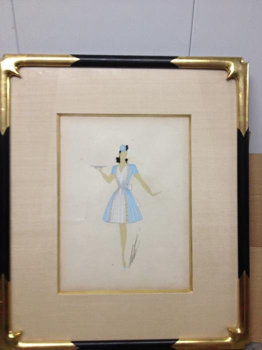 Original Erte costume design