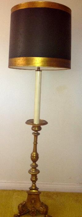 Bronze  candlestick floor lamp,