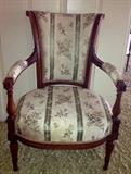 Another period well carved French arm chair.  Circa 1790