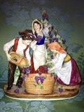 Capodimonte  porcelain figurine, minor losses