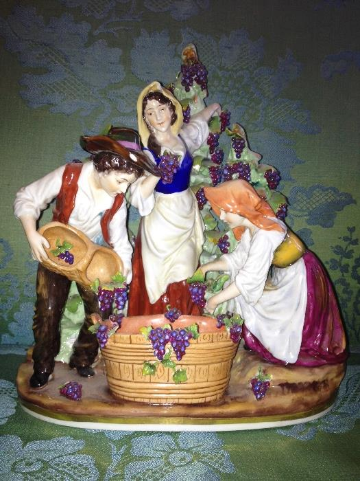 Capodimonte  porcelain figurine, minor losses