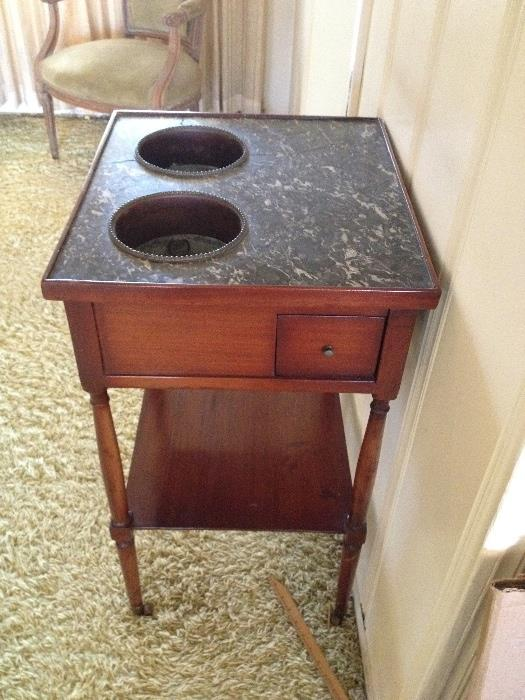 Antique Period cellerette with original brass liners,