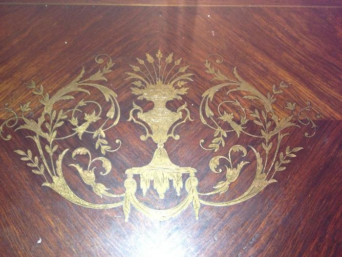 Antique French Boulle game table