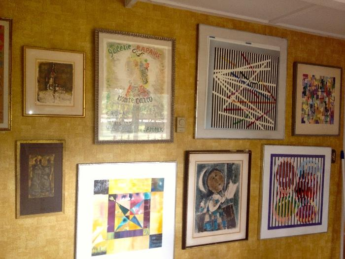 Gallery of oils prints and multiples by listed artists