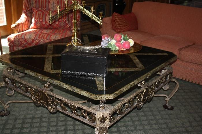 HUGE MARBLE TOP COCKTAIL TABLE
