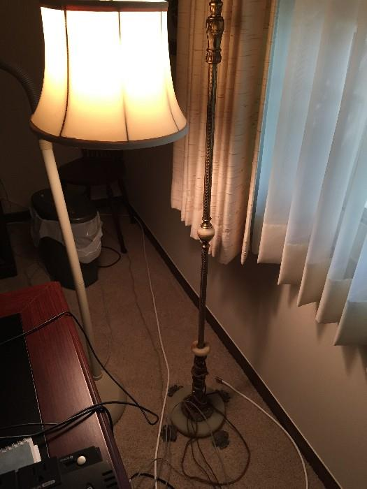 TALL BRASS FLOOR LAMP