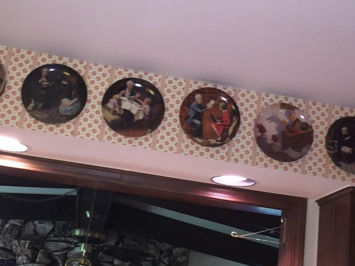NORMAN ROCKWELL DECORATIVE / COLLECTABLE PLATES