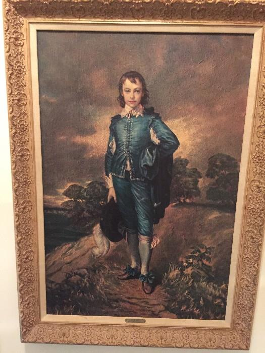 """Blue Boy"" by Thomas Gainsborough FRAMED PRINT"