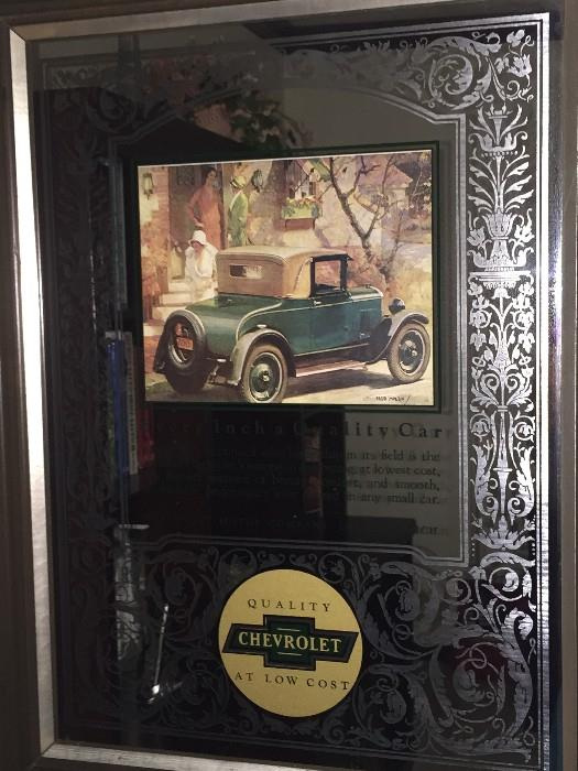 CHEVROLET MIRROR WALL DECOR'