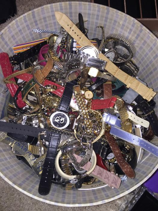 LOTS OF WATCHES, MENS AND WOMENS