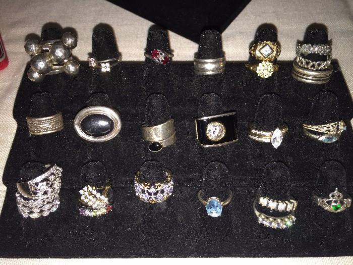 STERLING SILVER RINGS (SOME BY RUSSEL SIMMONS)