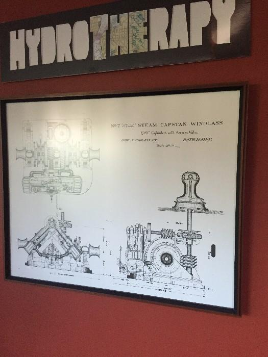 FRAMED ENGINEERING BLUEPRINT / AUTOMOTIVE / MECHANICAL ART
