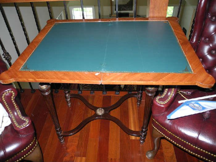 Antique table that turns into a card table - see previous description